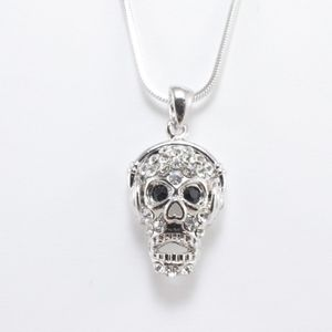 Edgy Skull with Headset Pendant Necklace